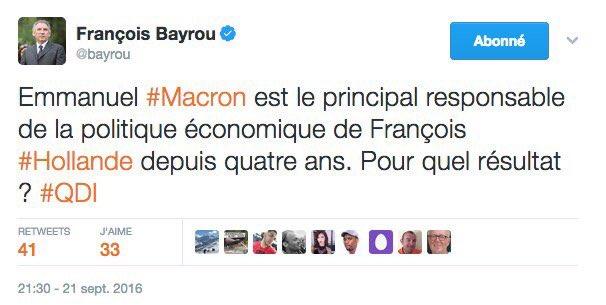 Les macroniens et les convictions, manifestement ça fait 2 #Bayrou #Ma...
