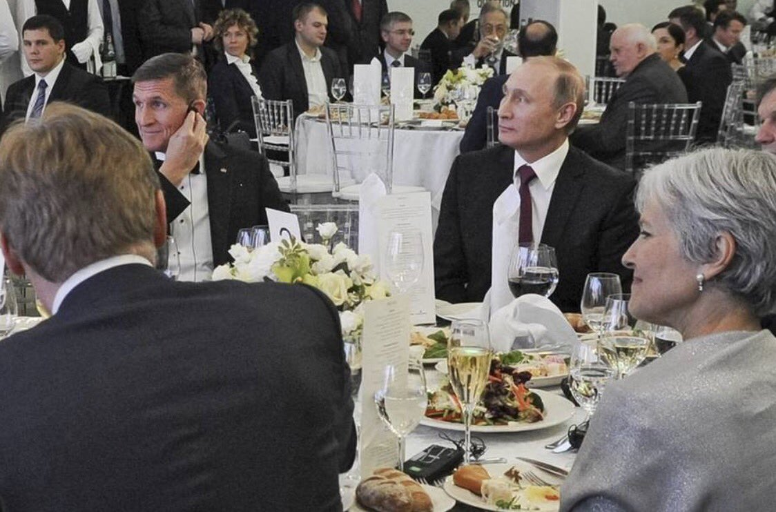 Anyone notice how quiet #JillStein is? Her motives for bashing #Hillary just became clearer. Check out this photo w/ #VladimirPutin <br>http://pic.twitter.com/8VZOIXce1Y