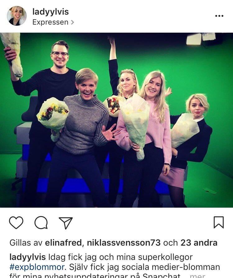 Blommor från chefredaktör @ThomasMattsson till flera tv-medarbetare i dag. Vi tackar!