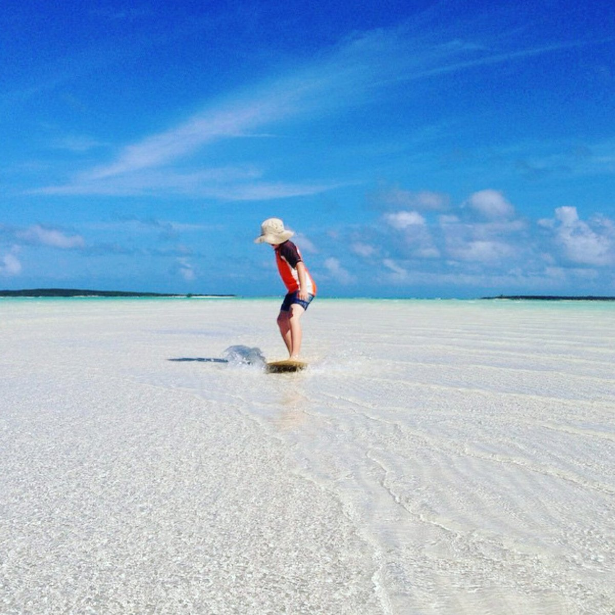 Canuck Palms Exuma On Twitter Skimboarding Across The Sandbars At Cocoplum Beach Bahamas Puresimpleblue Skimculture Skim Mermaids