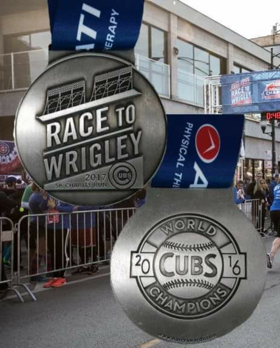 The Race To Wrigley!   #WhatMotivatesMeIn4Words  @Cubs #RaceToWrigley...