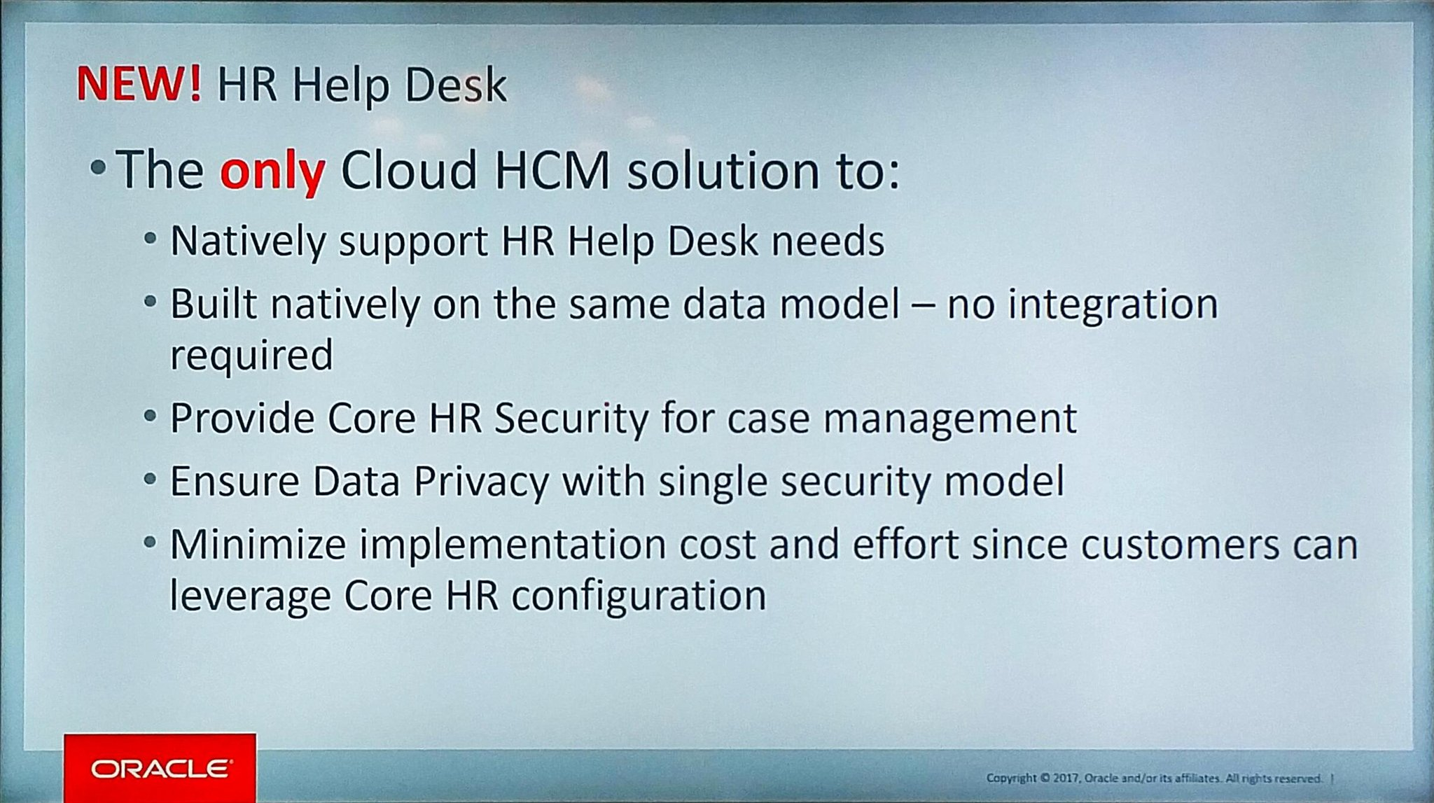 New @OracleHCM #Helpdesk - same platform  - same security  - same setup  #OracleHCM https://t.co/EEsnSwa2ef