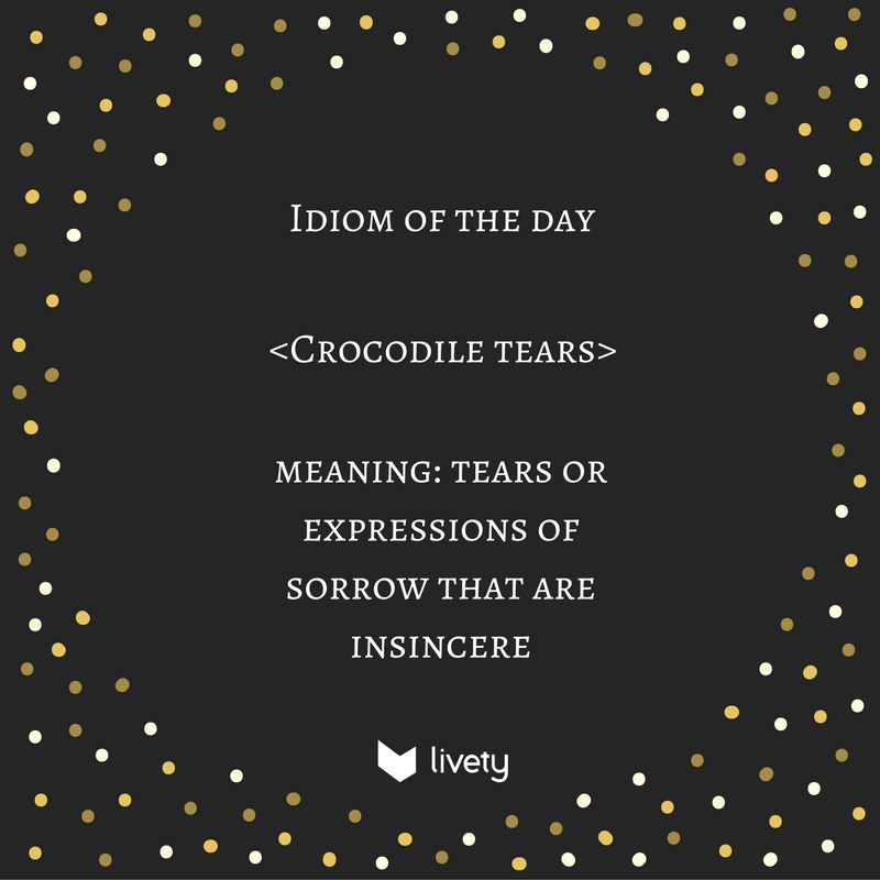 The project was a failure. She didn&#39;t do anything for it and still she cries &quot;crocodile tears&quot;. #EnglishIdioms <br>http://pic.twitter.com/68RuPIOFDy