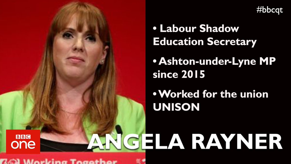 Labour's @AngelaRayner joins #bbcqt this Thursday evening https://t.co...