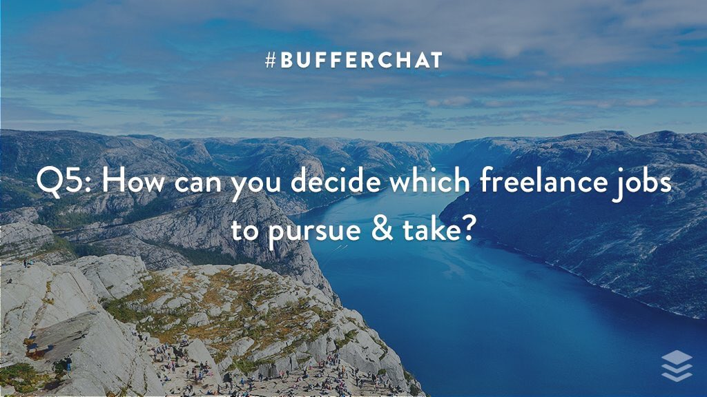 @buffer A5: Be honest w. self &amp; client; consider dimensions of goal, time, requirements, resources, costs  #bufferchat <br>http://pic.twitter.com/bXFmxL9iOc