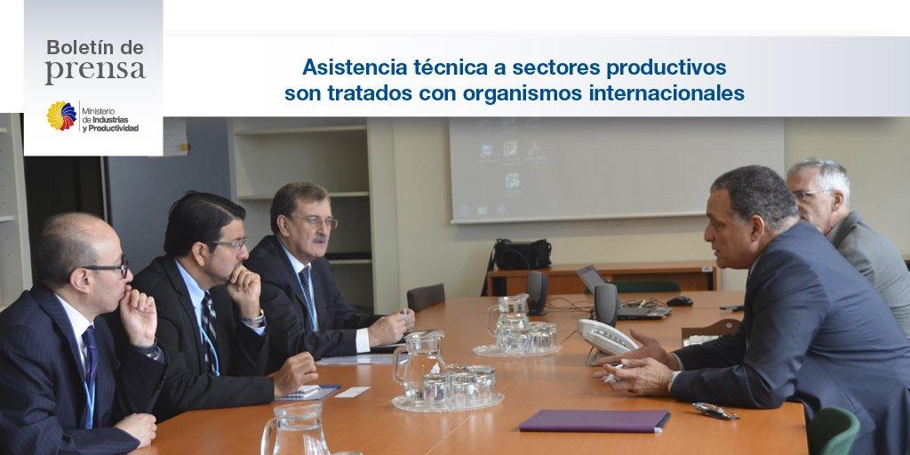 Ministro @sleonabad gestiona en #Viena asistencia de la #ONUDI para sectores productivos del Ecuador. @ONU_es  http:// bit.ly/2lq7DC1  &nbsp;  .<br>http://pic.twitter.com/IIv0VyxeZw