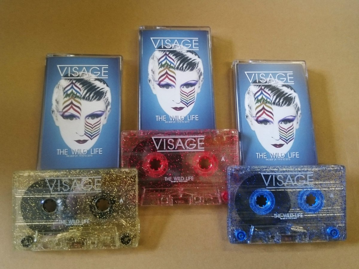 VISAGE CASSETTES of Gold, Red and Blue.  The Wild Life / Best Of, Now available.   https://t.co/2KinPSRcVL https://t.co/kj10OLZYSv