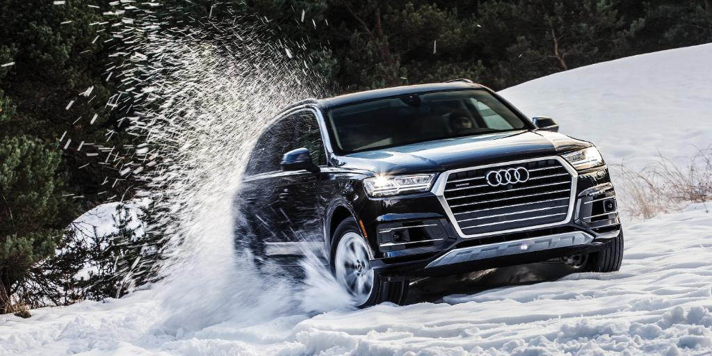 "Get your ""me-time"" before the snowplows ruin all the fun. #AudiQ7"