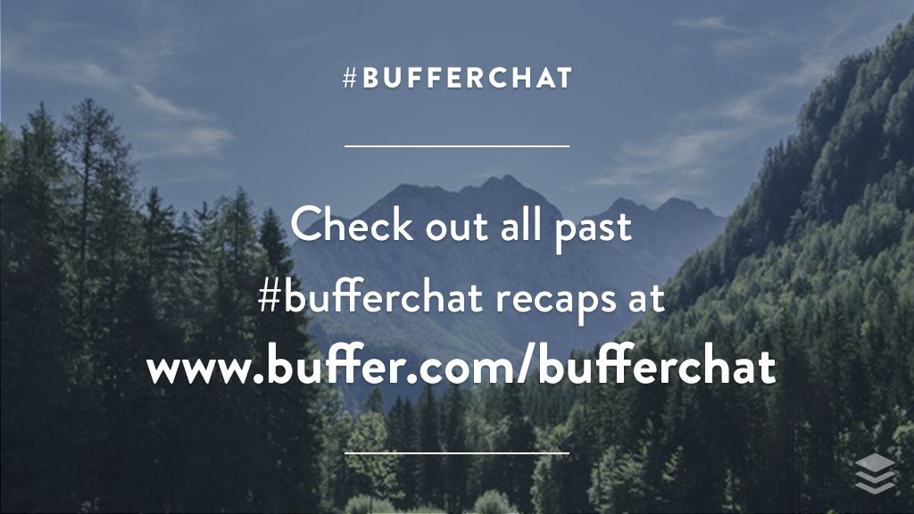 Thank you to @KateKendall and everyone involved for your awesome insights! Look for our #bufferchat recap here soon:  http:// buff.ly/2l56bSD  &nbsp;  <br>http://pic.twitter.com/YfhaVxNt8h