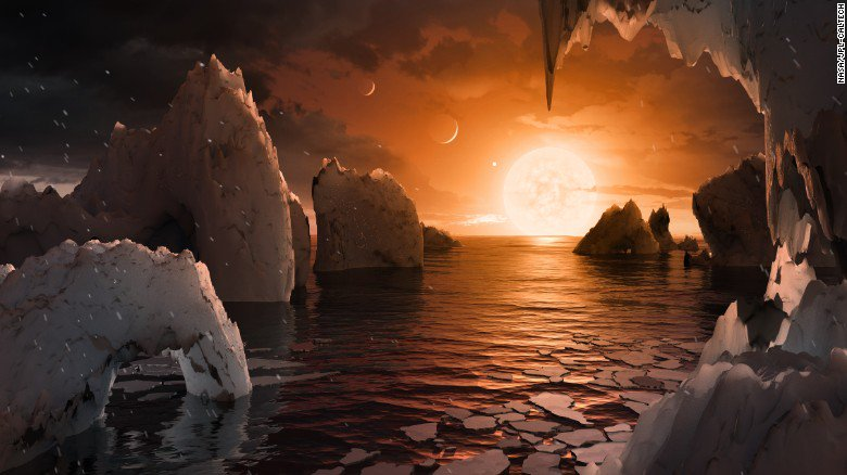JUST IN: NASA announces the discovery of at least 7 Earth-like planets orbiting the same star 40 light-years away https://t.co/EKg2ckzKYQ