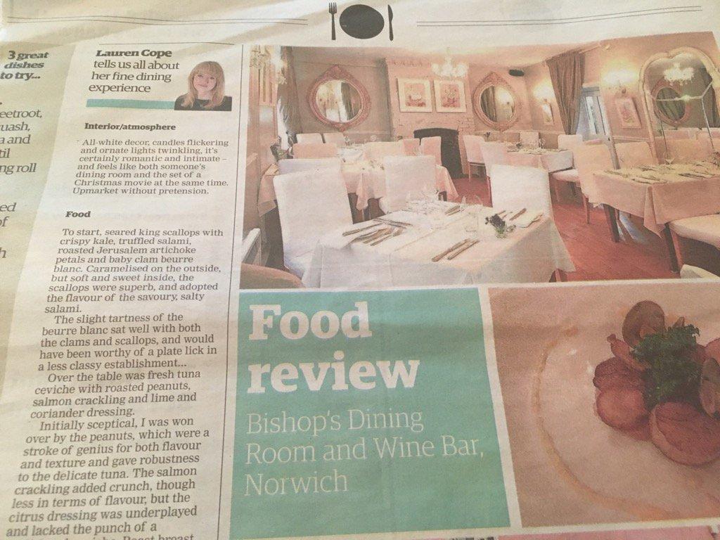 Eveningnews Review Bishops Restaurantpictwitter YsmWGsX9PA