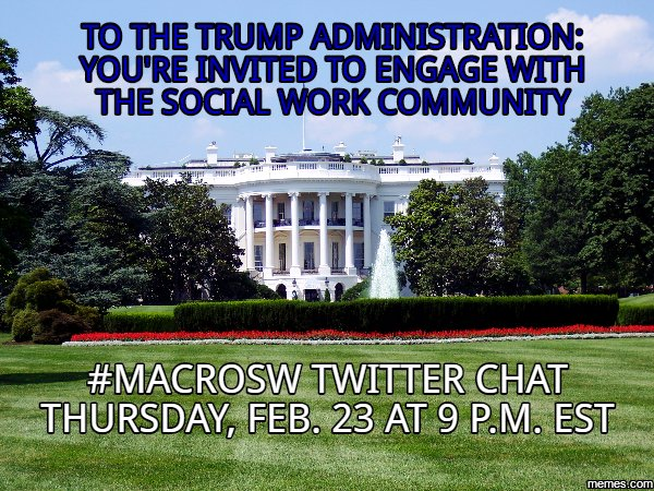 Invite stands for 2/23 #MacroSW chat. @realDonaldTrump @IvankaTrump @mike_pence @KellyannePolls @PressSec @Reince45 https://t.co/9XpvGxl7lh https://t.co/8YKmmhMeQd