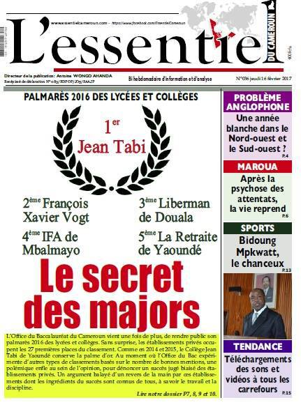 La une de l&#39;essentiel du Cameroun numero 36  http:// rviv.ly/H7FtL  &nbsp;   #Ambaland #NBC #CNN #BBC #news #breakingnews <br>http://pic.twitter.com/JaUJlu9f5K