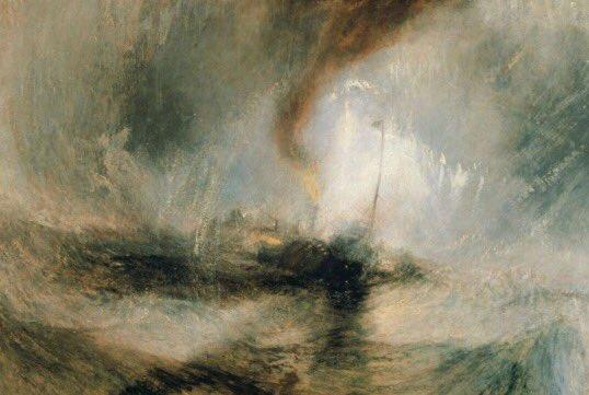 Snow #Storm At #Sea, Joseph Mallord William #Turner,1842  #English #artist  #twitart #Artlovers #arte  #Romanticism #StormDoris<br>http://pic.twitter.com/CNNq97i2QT