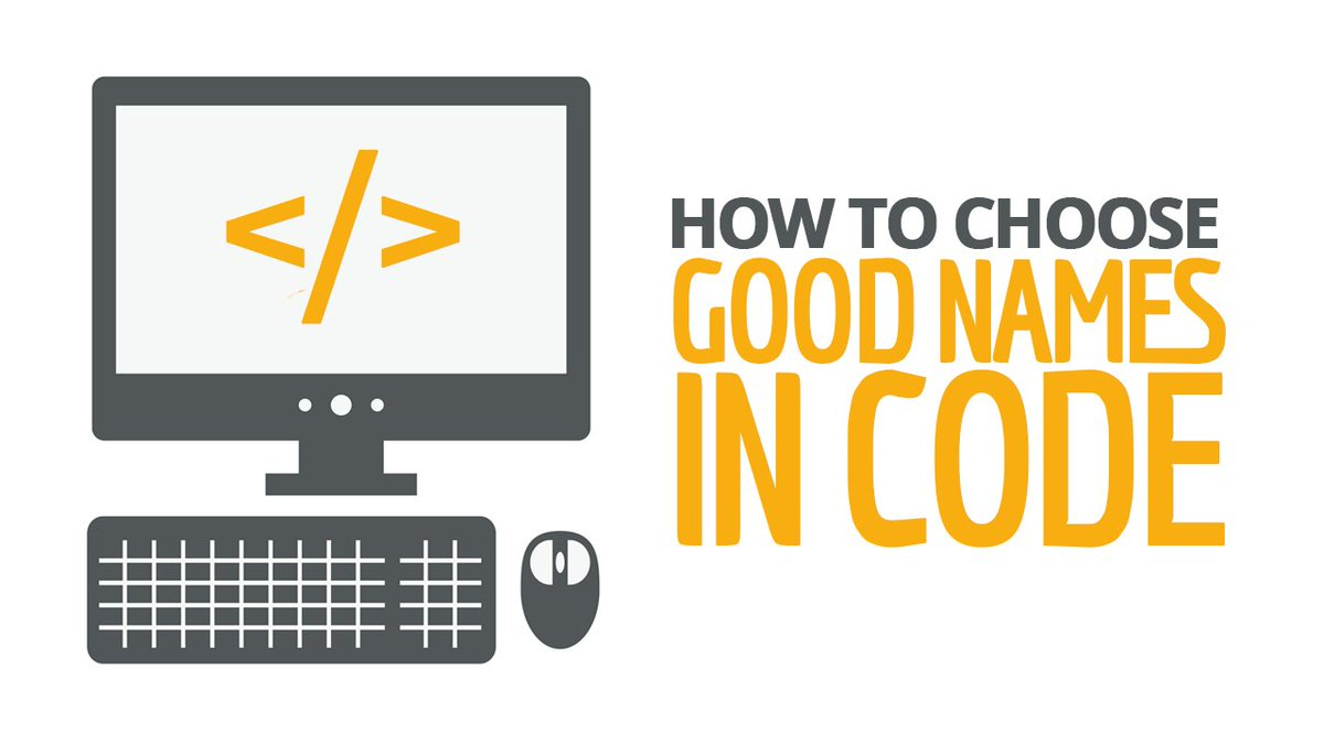 Choisir des bon noms de variables ou fonctions #code #programming  http:// buff.ly/2lvrRsj  &nbsp;  <br>http://pic.twitter.com/1NDVv20hSP