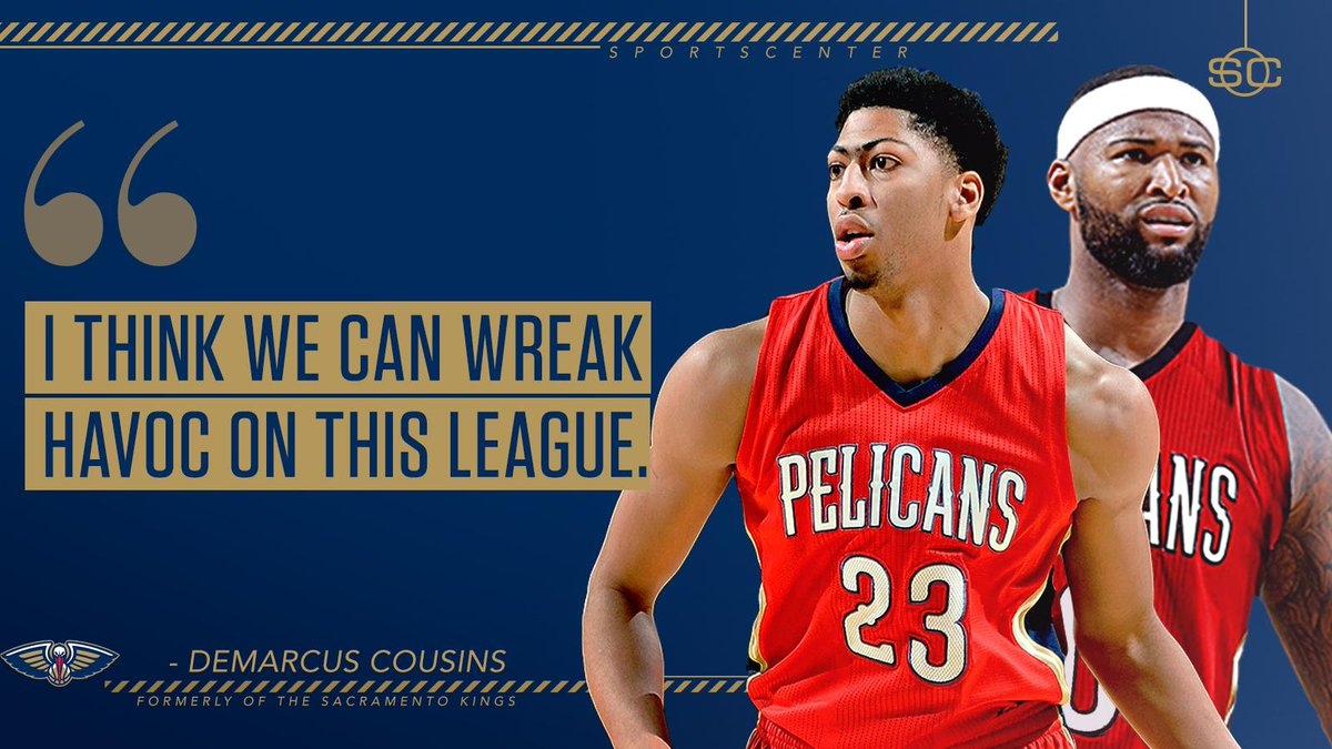 c6185fc67 Demarcus cousins is ready to go with anthony davis and the pelicans ...