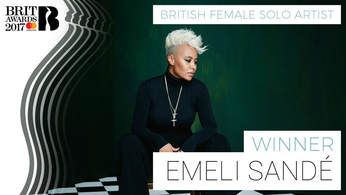 Taking home the first 🏆 of The #BRITs 2017 is British Female Solo Arti...