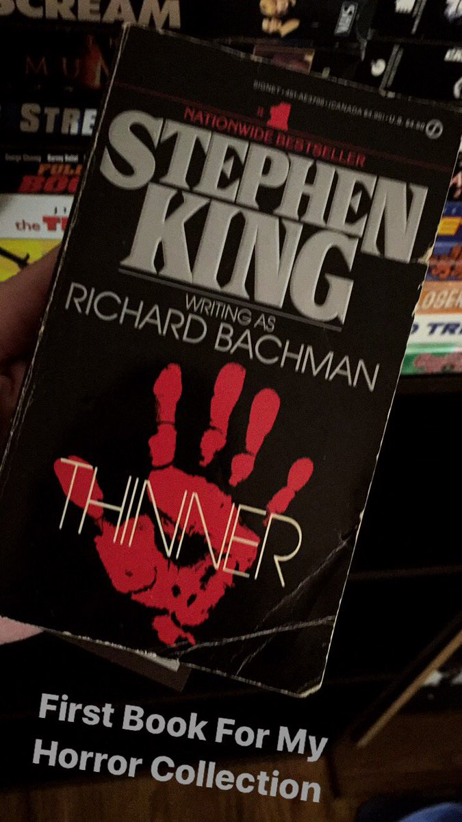 First book for my Horror Collection. #StephenKing #Thinner #Novel #Horror #HorrorFan #HorrorNovel #HorrorNovels<br>http://pic.twitter.com/CD6WOemEHZ