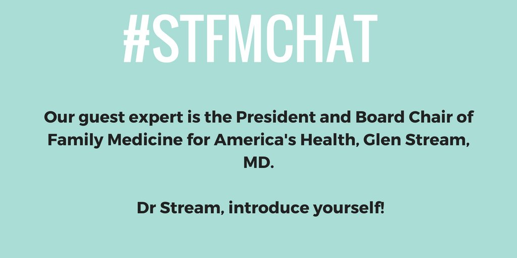 Welcome to the #stfmchat! Tonight we're hearing from @grstream!  Everyone take a moment to introduce yourselves. https://t.co/cRzqmzeEOX