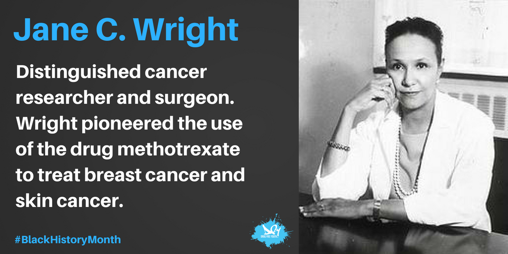 Jane C. Wright is highly noted for her contributions to chemotherapy. #BHM