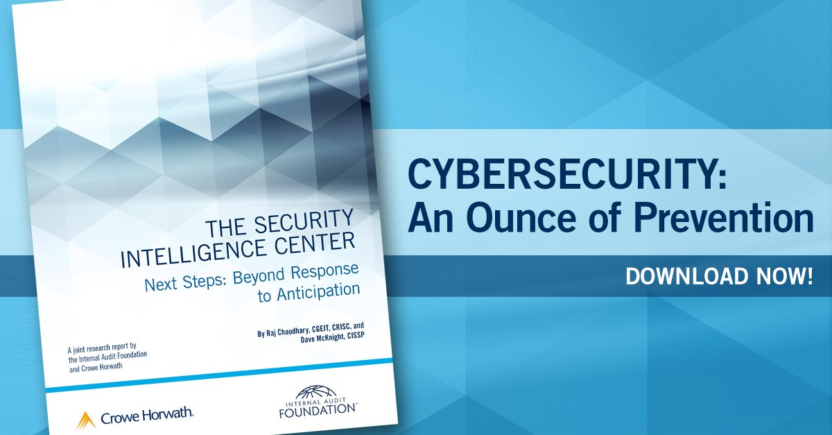 #Cybersecurity: An ounce of prevention is worth a pound of cure. Download your free report. https://t.co/Oz9dmWVfgg https://t.co/jgCJfTDusr