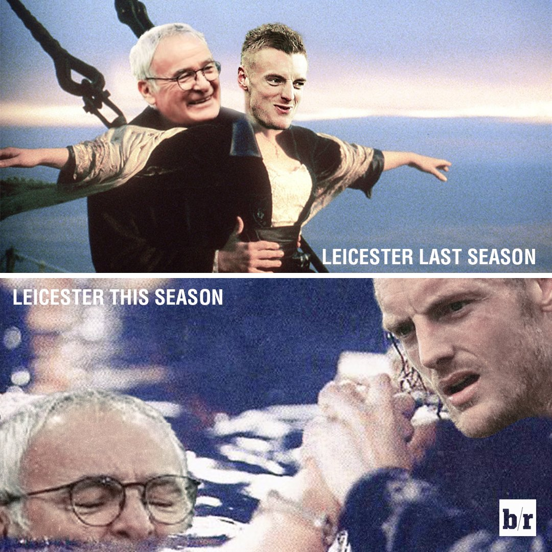 Leicester City last season vs. Leicester City this season https://t.co...