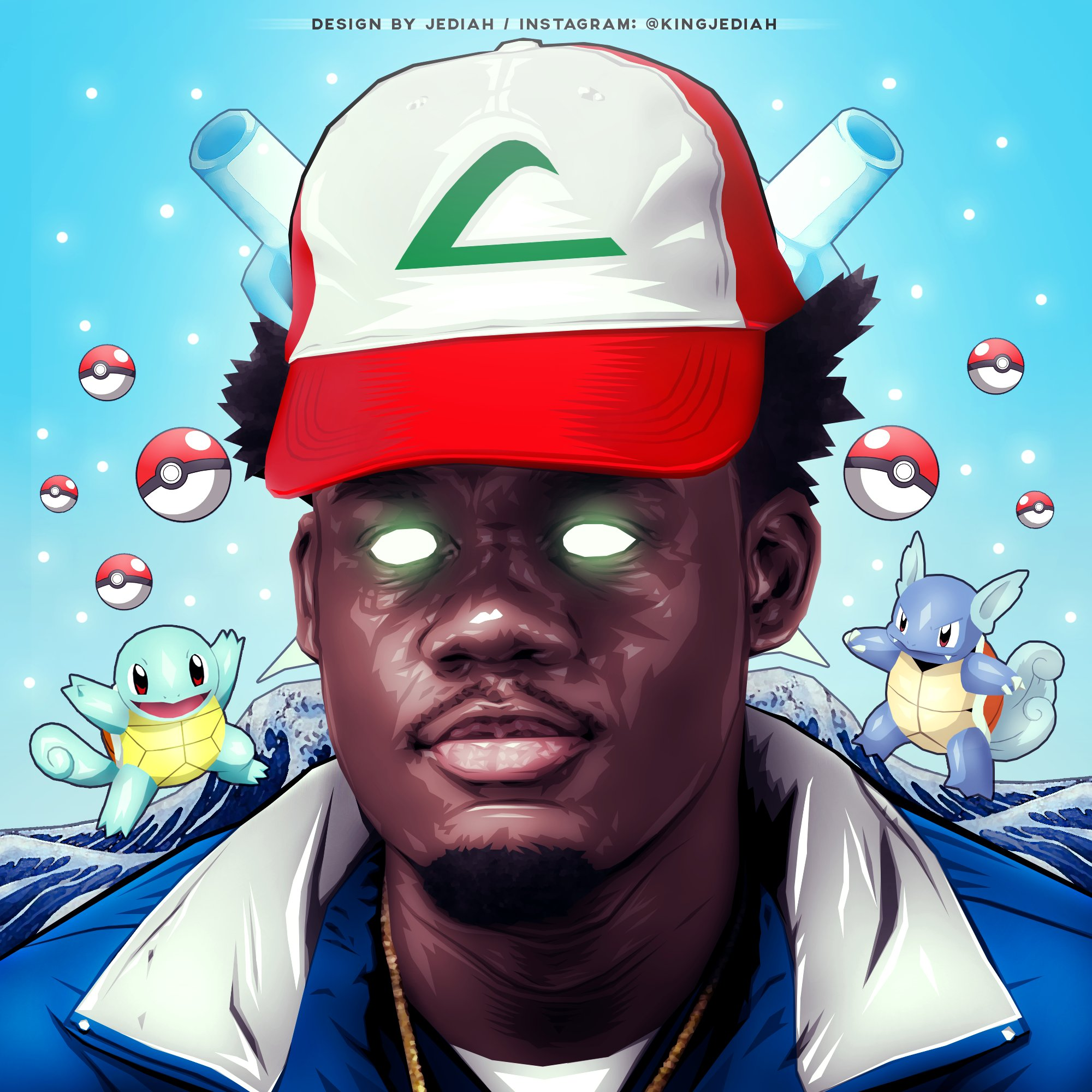 "King Jediah 👑 on Twitter: ""Ugly God / Water Pokemon Themed ..."