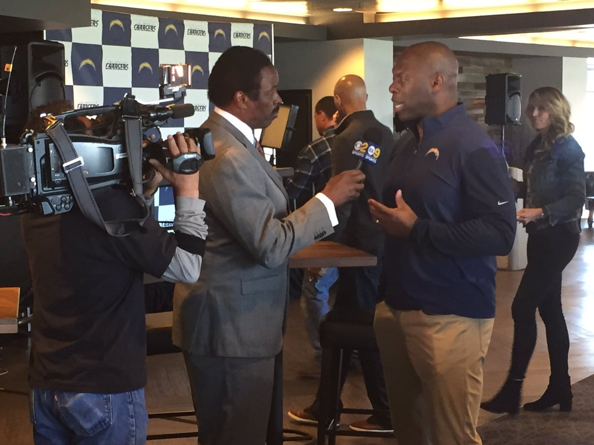 More sights from today's @Chargers media event w the team's coordinato...