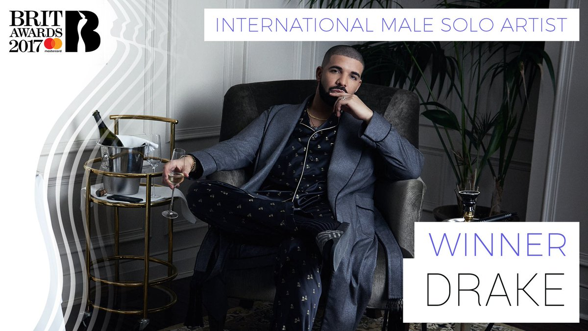 The winner of International Male Solo Artist at The #BRITs 2017 is @Dr...