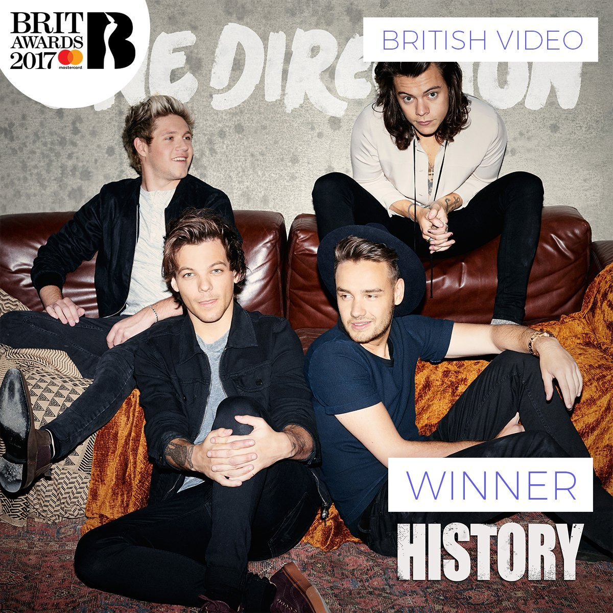 RT @BRITs: The winner of British Video at The #BRITs 2017 as voted for by you is @onedirection!! 🎉 https://t.co/y02G5t6nqZ