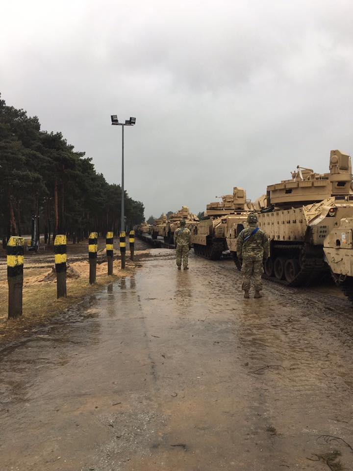 US military equipment in Hungary
