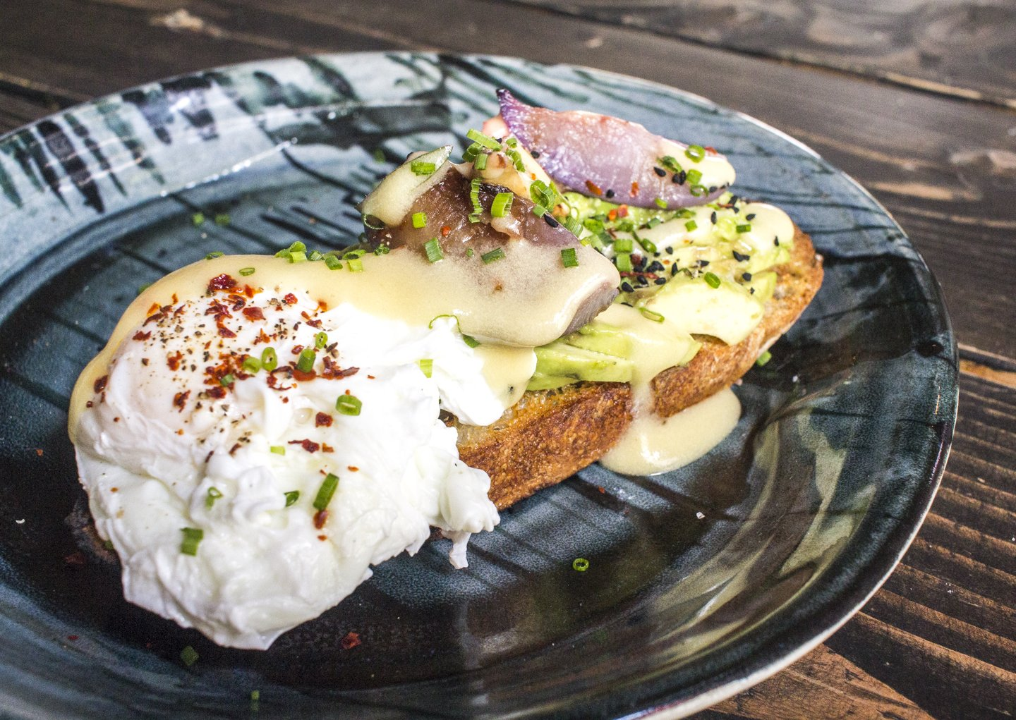 Poached Egg atop Avocado Toast. YUM. #OaklandTeaParlor. We're waiting for you ;) #foodporn https://t.co/MQGupd7c6f