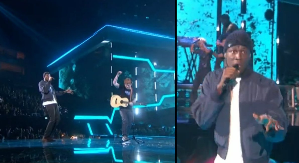 Ed Sheeran and Stormzy just smashed it at The Brit Awards https://t.co...