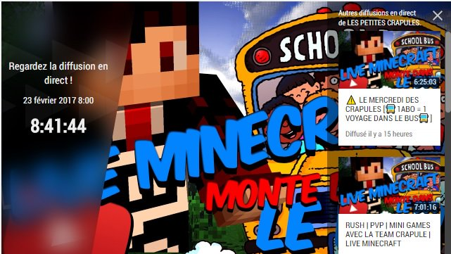 LIVE MINECRAFT   8h00 avec @Tunfou_LPC   http://www. youtube.com/c/LESPETITESCR APULES/live &nbsp; …  Monte dans le bus des Petites Crapules  #Minecraft #youtube #live<br>http://pic.twitter.com/BB6zhFhMYp