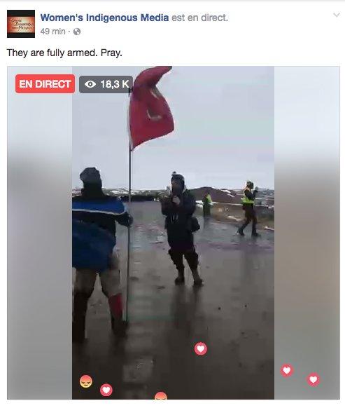 EN DIRECT #StandingRock: forces de l&#39;ordre armées délogent les 1ères Nations/protecteurs #eau  ##pipeline #NODAPL  https://www. facebook.com/womensindigeno usmedia/videos/406457929709620/ &nbsp; … <br>http://pic.twitter.com/JpZN1CA9Fn