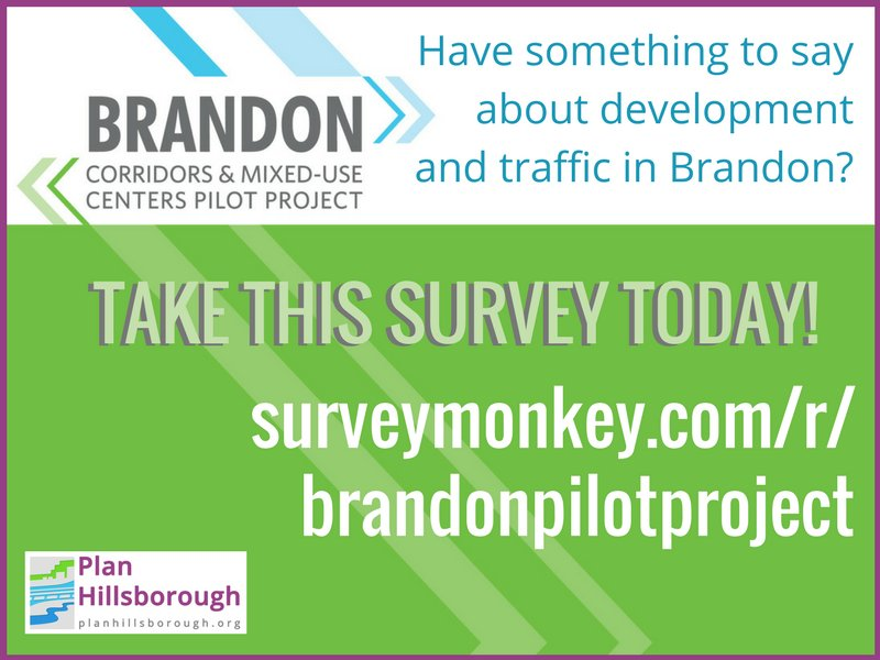 Live, work, or play in #Brandon? Weigh in on growth along 3 major E-W corridors: SR60   Lumsden   Bloomingdale at:  https://www. surveymonkey.com/r/brandonpilot project &nbsp; … <br>http://pic.twitter.com/ifcTpDzpyX