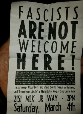 Fascists Are Not Welcome Here! @ Berkeley | California | United States