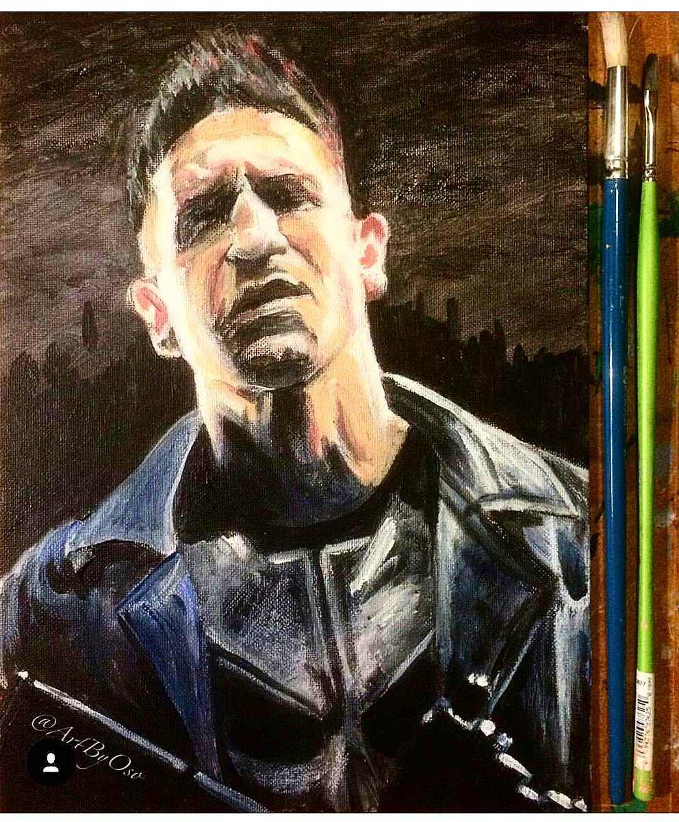 Do you miss #inShane? #jonbernthal , #punisher painting by @artbyoso #twf #TWDFamily #realtwdfans #WalkingDead #horrorfan #zombie<br>http://pic.twitter.com/Jwd2LlOl1v