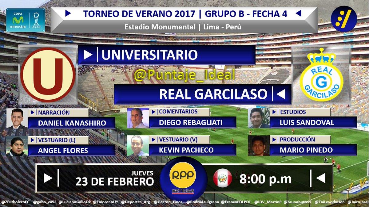 #CopaMovistar  #U vs.#RealGarcilaso Con @danykanashiro,@diegoreba,@kevin23pacheco,@angelpaulflores @camaraccion16,@mario_pinedo   Dale RT<br>http://pic.twitter.com/GHzIMg1sN4