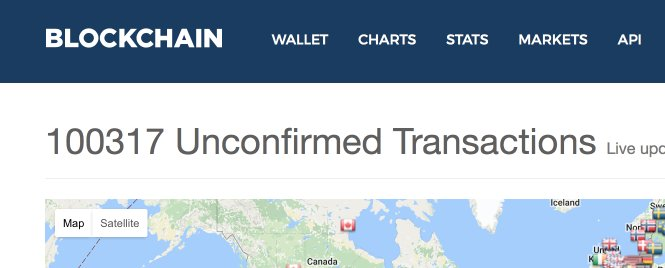 Bitcoin unconfirmed transactions cause delays on payments