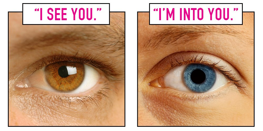 Pupils dilate attraction