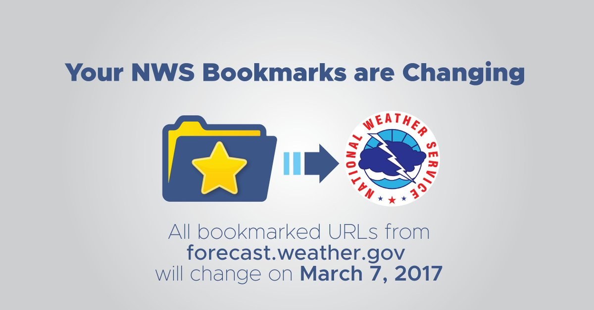 The URL&#39;s for many NWS&#39;s webpages will be changing on March 7th, 2017. More info...  https:// forecast-v3.weather.gov/documentation? redirect=legacy &nbsp; …  #pdxtst #orwx #wawx #pdxtraffic<br>http://pic.twitter.com/cX6zUBJkwp