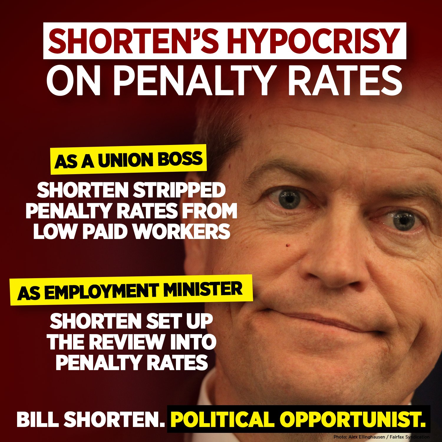 Image result for bill shorten penalty rates
