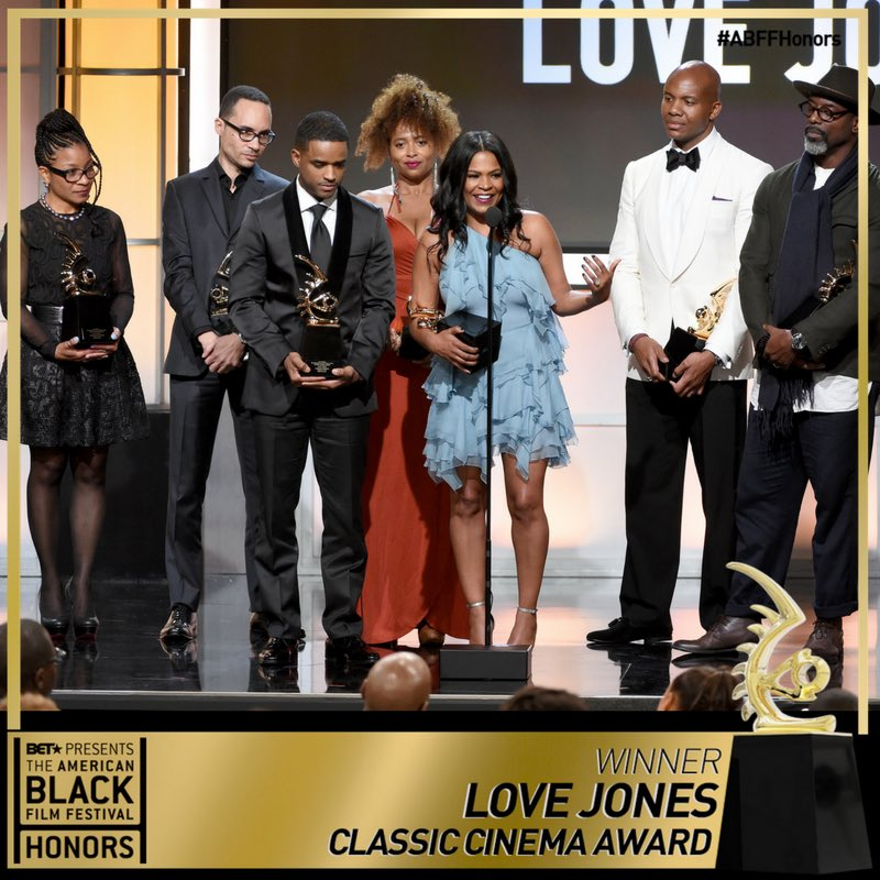 Congratulations to the entire cast & crew of #LoveJones on their Classic Cinema Award!!! #abffhonors https://t.co/otALpZk0zm