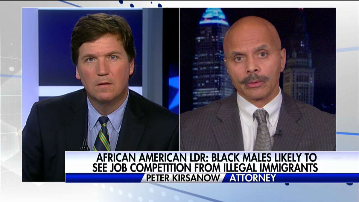"""Peter Kirsanow: """"It&#39;s ECON 101...When you have an oversupply of labor, the price of labor is going to be depressed.&quot; #Tucker <br>http://pic.twitter.com/UCnzHPfdxD"""