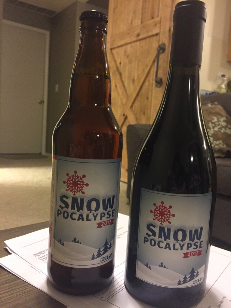Cheers to the boss people for handing out booze at work! A gift for surviving #snowpocalypse. Now, no more snow! <br>http://pic.twitter.com/EjJwE92HlA