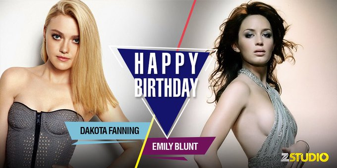 Happy Birthday to the sexy ladies, Dakota Fanning and Emily Blunt! Send in your wishes!