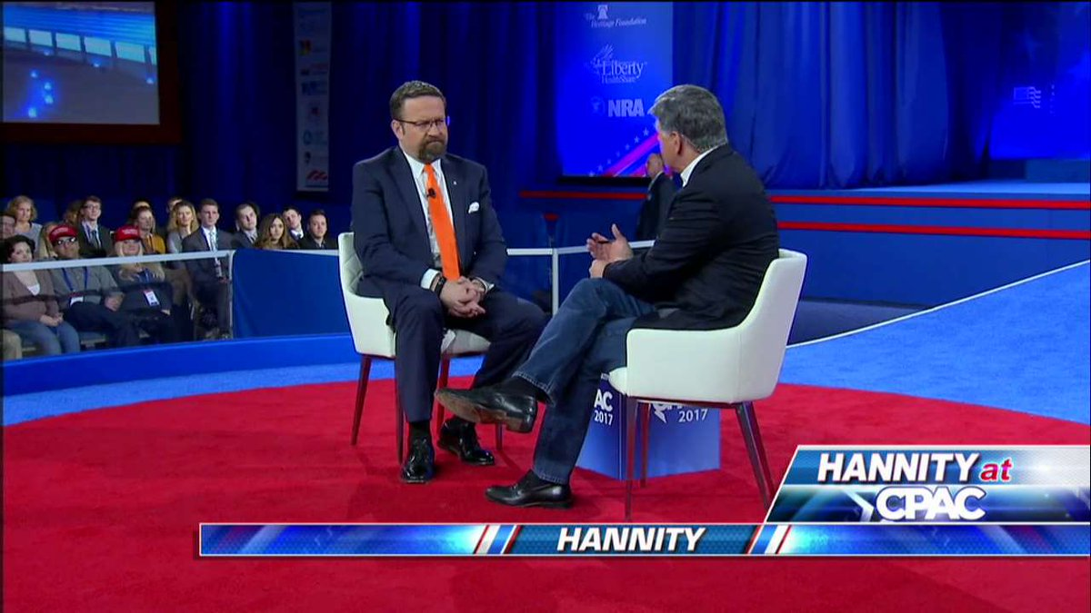 """.@SebGorka: """"The only way you can win any war is when you are allowed to talk truthfully about who the enemy is."""" #Hannity #CPAC2017<br>http://pic.twitter.com/ls1FdkGvEK"""