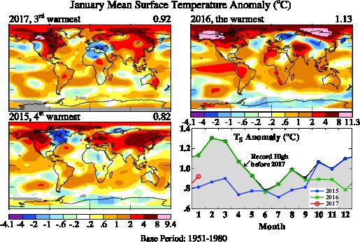 Point info #climat : 2017 démarre fort, déjà les records !  avec @lemondefr   http:// bit.ly/2lDKH2Y  &nbsp;  <br>http://pic.twitter.com/tUcdNGmeUg