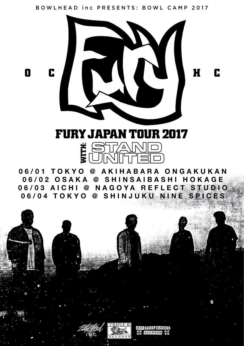 YOOO!! BOWLHEADLINE NEWS!! FURY JAPAN TOUR 2017 with STAND UNITED!! https://t.co/ECGynz1kp8